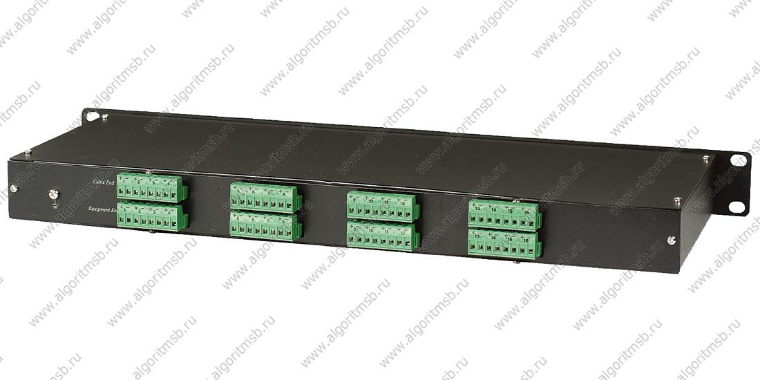 Устройство грозозащиты OSNOVO SP-C16C для цепей видео 16 входов BNC-мама/16 выходов BNC-мама для кре
